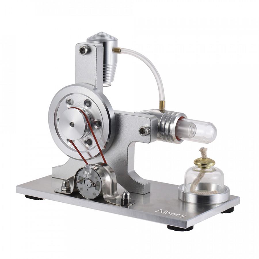 Động Cơ Nhiệt Đốt Ngoài Stirling Cao Cấp Aibecy Đèn LED