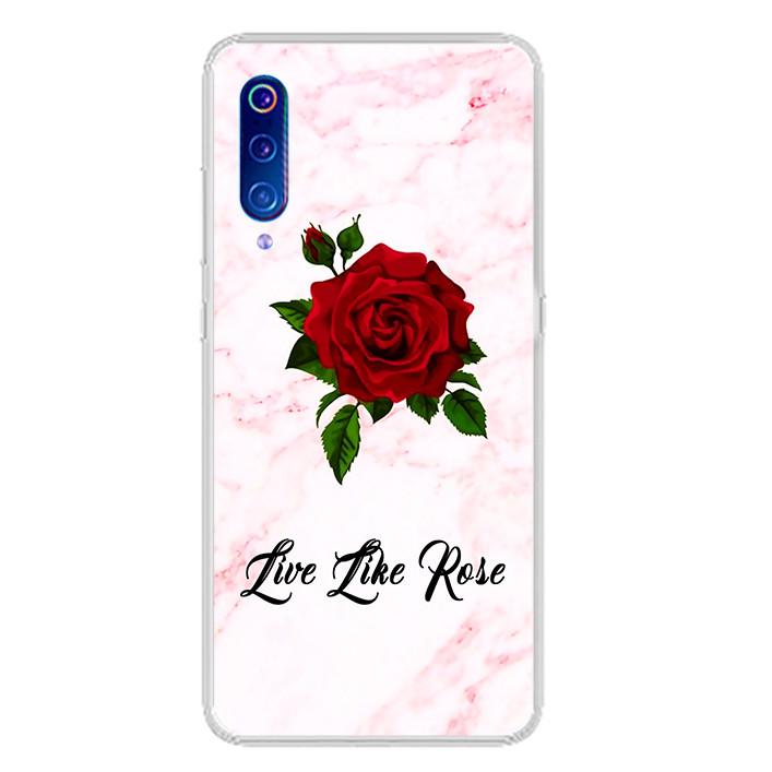 Ốp lưng dẻo cho điện thoại Xiaomi Mi 9 - 0060 FLOWER08 - Hàng Chính Hãng