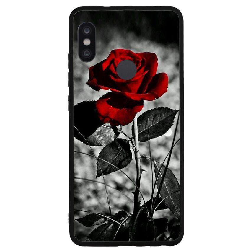 Ốp lưng viền TPU cho điện thoại Xiaomi Redmi Note 5 Pro -Rose 08
