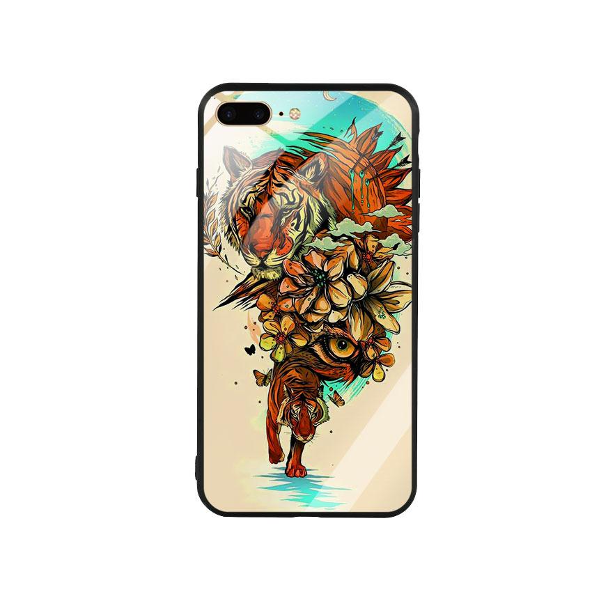 Ốp Lưng Kính Cường Lực cho điện thoại Iphone 7 Plus / 8 Plus - Tiger 05
