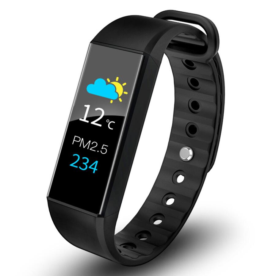 Vòng đeo tay thông minh màn hình cảm ứng lớn chống nước giúp kiểm tra nhịp tim và giấc ngủ, nhắc thông tin và...