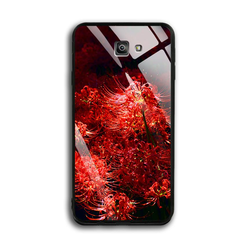 Ốp Lưng Kính Cường Lực cho điện thoại Samsung Galaxy J7 Prime - 03016 0592 HOABINGAN03 - In hình Hoa Bỉ Ngạn - Hàng Chính...