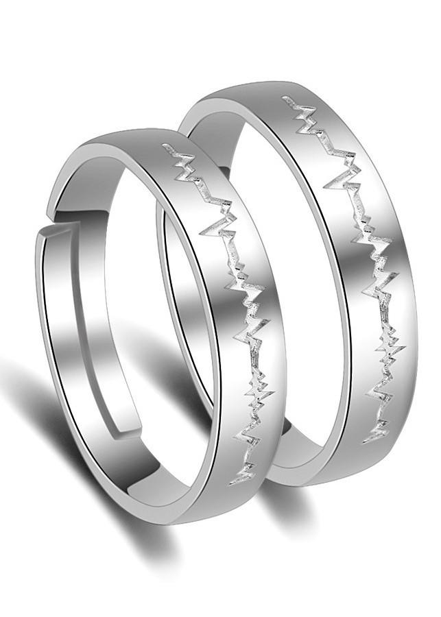 Nhẫn đôi tình nhân Bạc 925 tặng kèm hộp nhung - RC11
