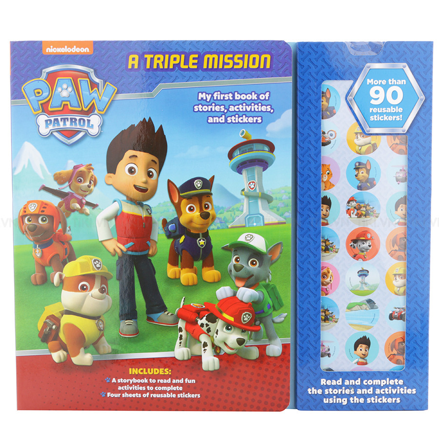 Nickelodeon Paw Patrol: My First Book Of Stories, Activities  Stickers - Chú chó cứu hộ