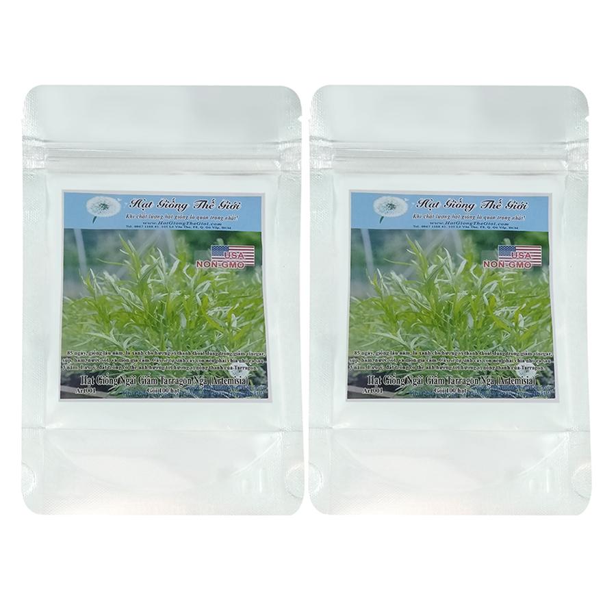 Bộ 2 túi Hạt Giống Ngải Giấm Tarragon Nga (Artemisia dracunculoides) (100 hạt / túi)