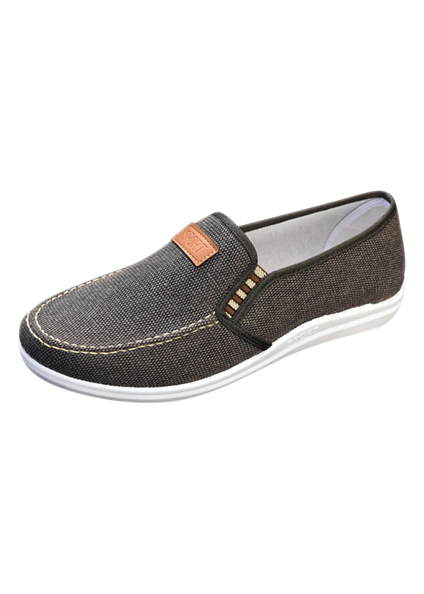 Giày Lười Vải Nam Màu Xám Xanh HM 02