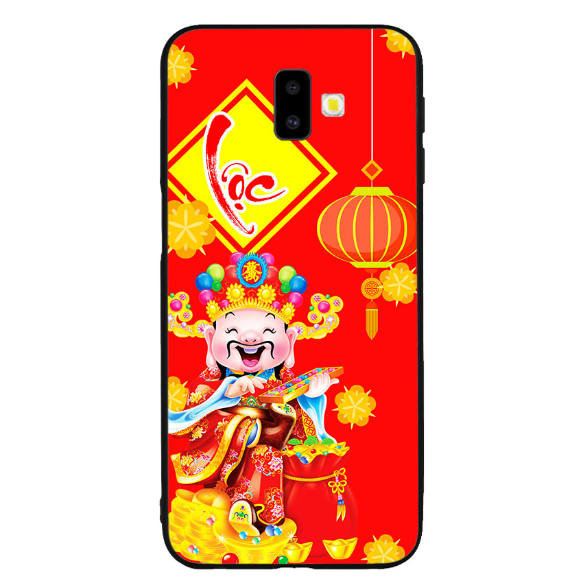 Ốp lưng nhựa cứng viền dẻo TPU cho điện thoại Samsung Galaxy J6 Plus - Thần Tài 04