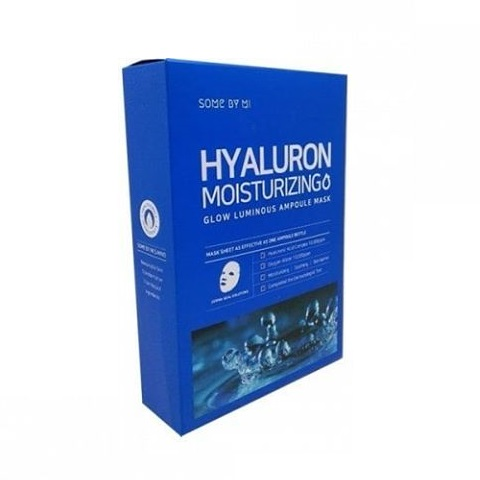 Bộ 10 Mặt Nạ Giấy Some By Mi Glow Luminous Ampoule Hyaluron Moisturizing Mask x10