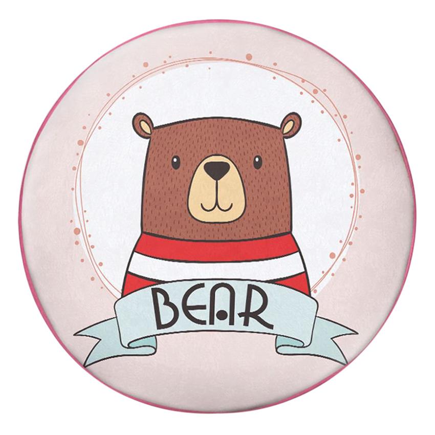 Gối Ôm Tròn Gấu Mặc Áo Sọc - GOAA273