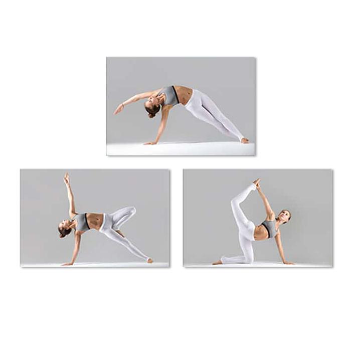Bộ 3 Tranh Treo Tường Phòng Yoga Đẹp Và Độc Đáo W563