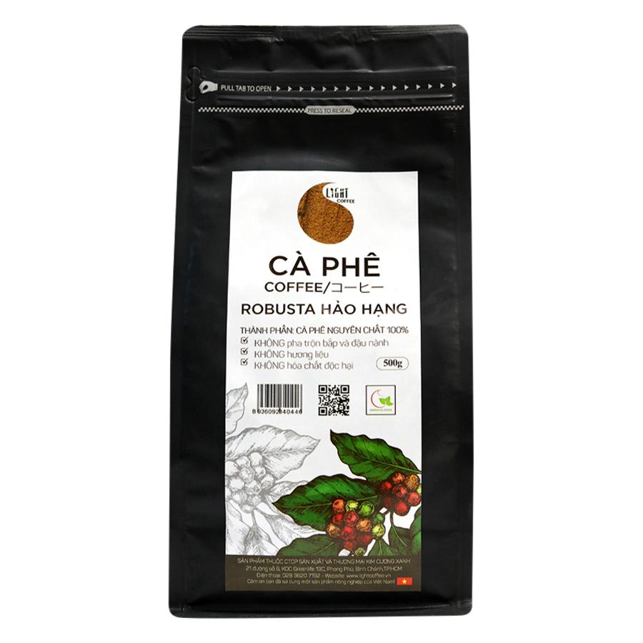 Cà Phê Bột Nguyên Chất 100% Robusta Hảo Hạng Light Coffee RHHB-500 (500g) - 1790555060718,62_1207095,371000,tiki.vn,Ca-Phe-Bot-Nguyen-Chat-100Phan-Tram-Robusta-Hao-Hang-Light-Coffee-RHHB-500-500g-62_1207095,Cà Phê Bột Nguyên Chất 100% Robusta Hảo Hạng Light Coffee RHHB-500 (500g)