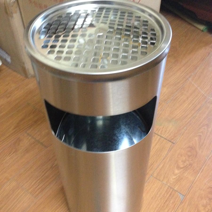 thùng rác inox có gạt tàn - 1884025 , 3532861620617 , 62_14387750 , 1500000 , thung-rac-inox-co-gat-tan-62_14387750 , tiki.vn , thùng rác inox có gạt tàn