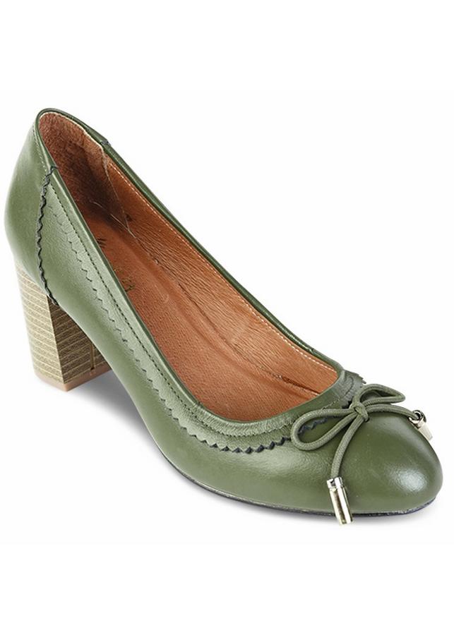Giày Da Công Sở Nữ Gót Vuông