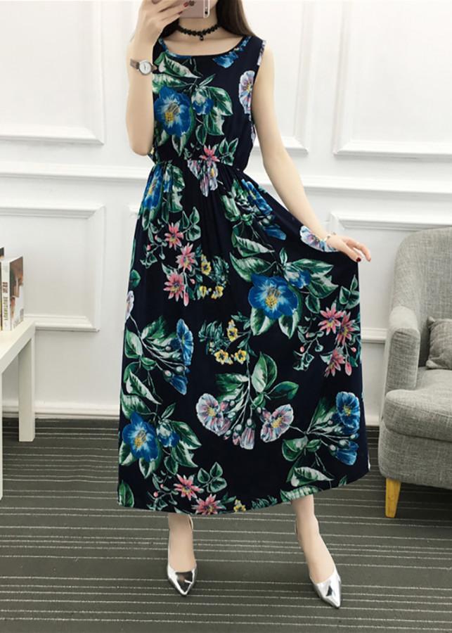 9205070641660 - Váy đầm tone cotton maxi dài dạo chơi, đi biển - Mã 52