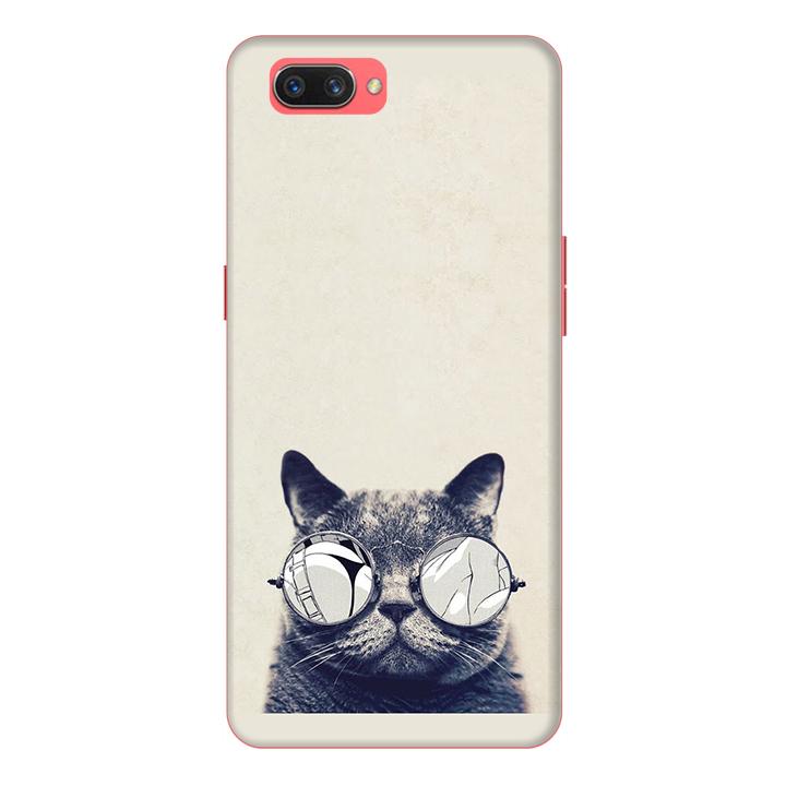 Ốp lưng điện thoại Realme C1 hình Mèo Con Đeo Kính Mẫu 1