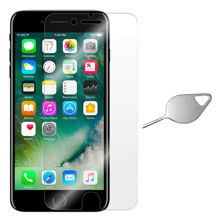Bộ Kính Cường Lực iPhone 7 Plus / 8 Plus Remax (Trong Suốt) Và Cây Lấy Sim Hình Giọt Nước - Hàng Chính Hãng