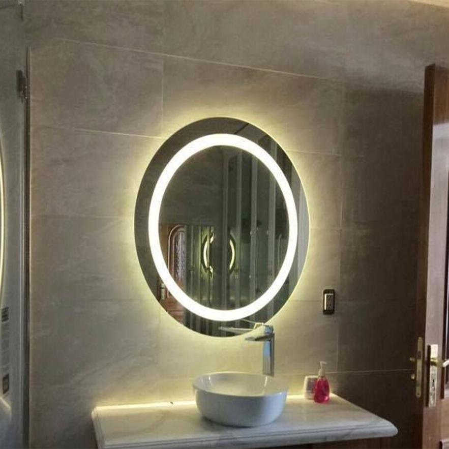 Gương Tròn Đèn Led cảm ứng công nghệ sấy xóa tan hơi nước đường kính 50