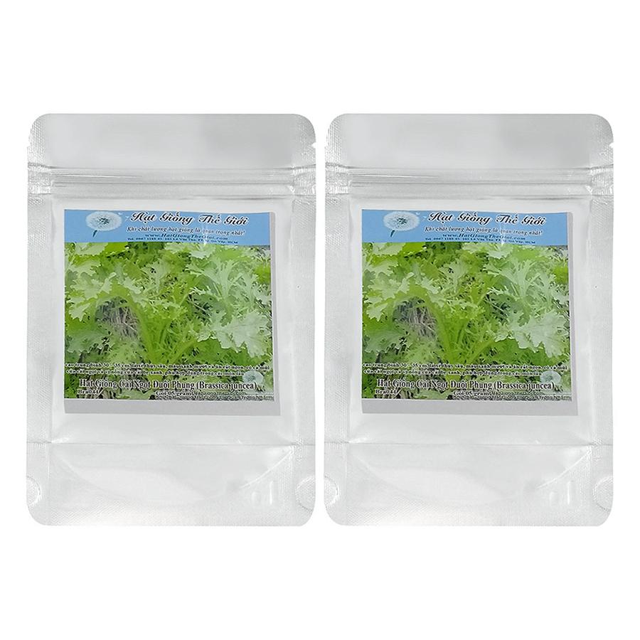 Bộ 2 Túi Hạt Giống Cải Ngọt Đuôi Phụng (Brassica Juncea) (5g x 2)