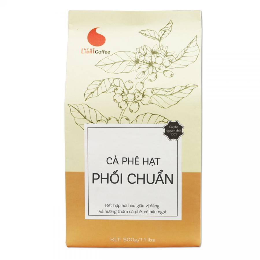 Cà Phê Hạt Rang Nguyên Chất 100% Light Coffee Phối Chuẩn (500g)