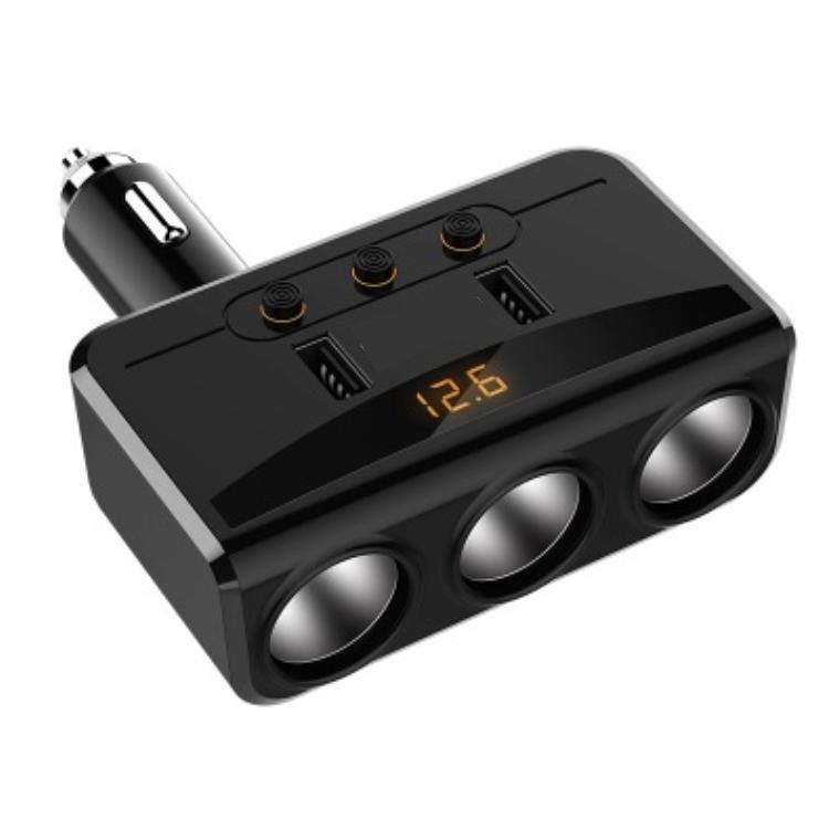 Bộ chia tẩu sạc oto, xe hơi cao cấp 3 tẩu - 2 cổng USB có LED báo ắc quy HD - 1257308 , 1069742384006 , 62_7772231 , 320000 , Bo-chia-tau-sac-oto-xe-hoi-cao-cap-3-tau-2-cong-USB-co-LED-bao-ac-quy-HD-62_7772231 , tiki.vn , Bộ chia tẩu sạc oto, xe hơi cao cấp 3 tẩu - 2 cổng USB có LED báo ắc quy HD