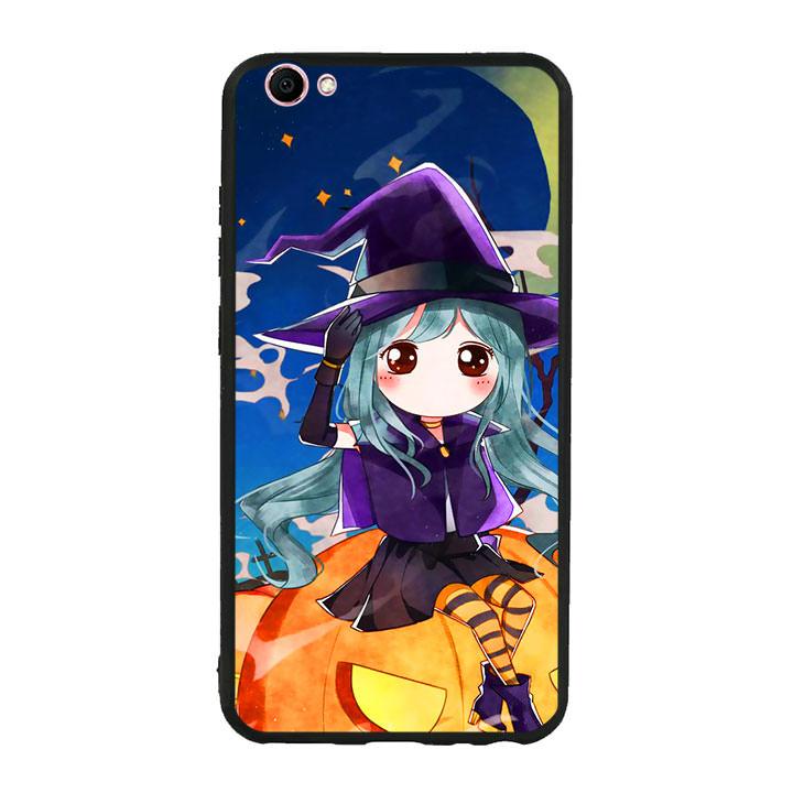 Ốp lưng Halloween viền TPU cho điện thoại Vivo V5 - Mẫu 04