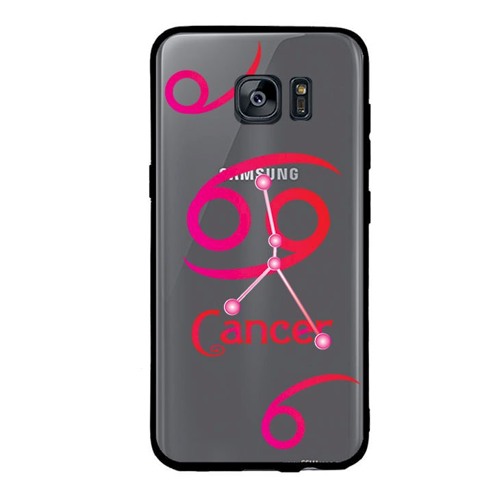 Ốp lưng cho điện thoại Samsung Galaxy S7 Edge viền TPU cung Cự Giải - Cancer