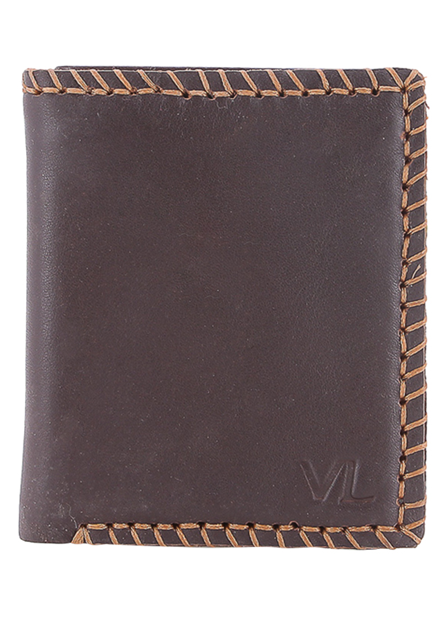 Ví Da Nam VL Leather VL0004 (12 x 10 cm) - Nâu