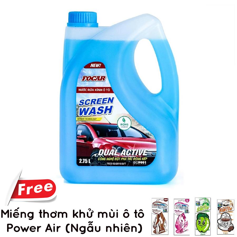 Nước Rửa Kính Ô Tô Focar Screen Wash (2.75L) + Tặng Miếng Thơm Car Girls Sexy