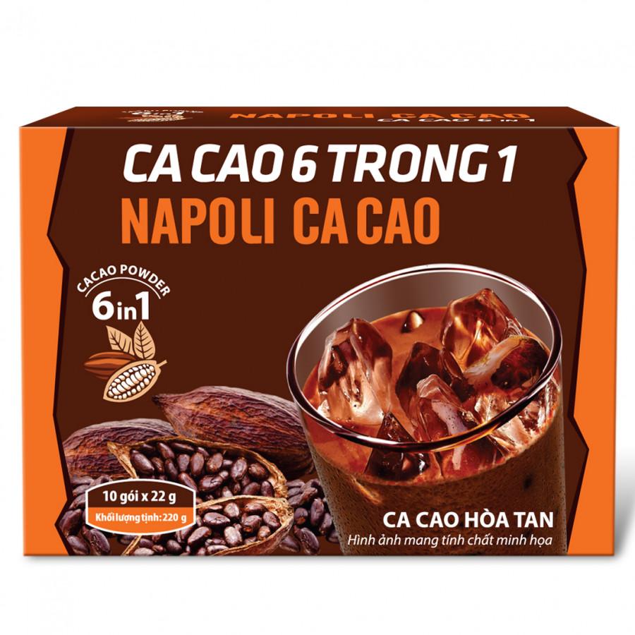 Cacao hòa tan 6in1 Napoli (10 gói)