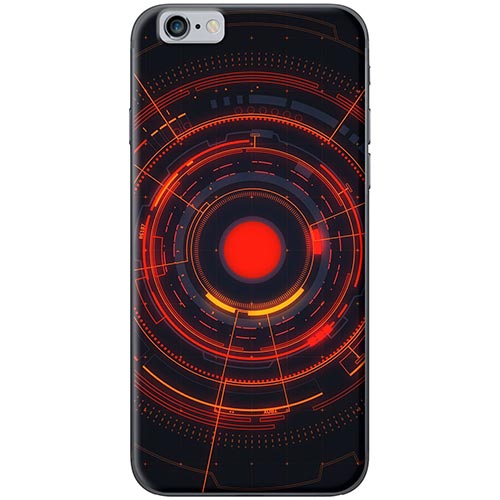 Ốp Lưng Hình Vòng Tròn Đỏ Dành Cho iPhone 6 Plus / 6s Plus