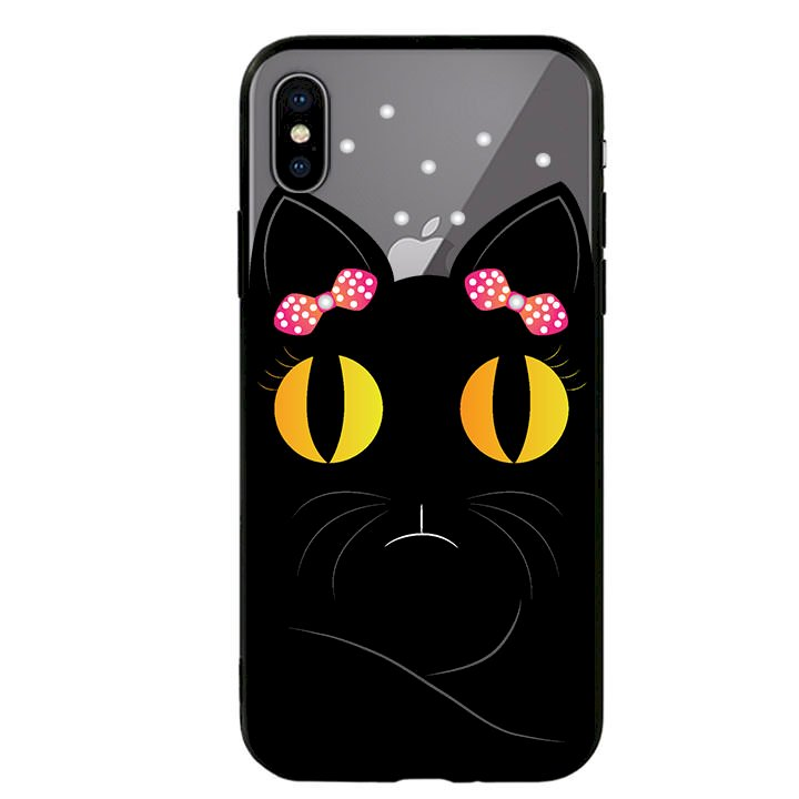 Ốp lưng viền TPU cho Iphone X - Mèo Mun 02