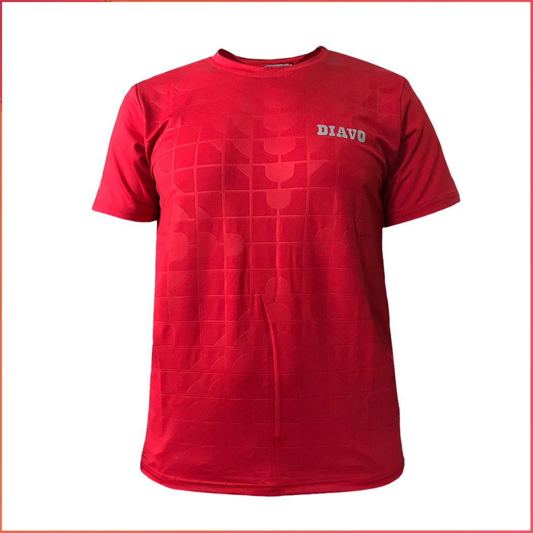 Áo thể thao DIAVO ngắn tay cổ tròn họa tiết VÂN VUÔNG chất đẹp trẻ trung khỏe khoắn thời trang co giãn thoáng mát...