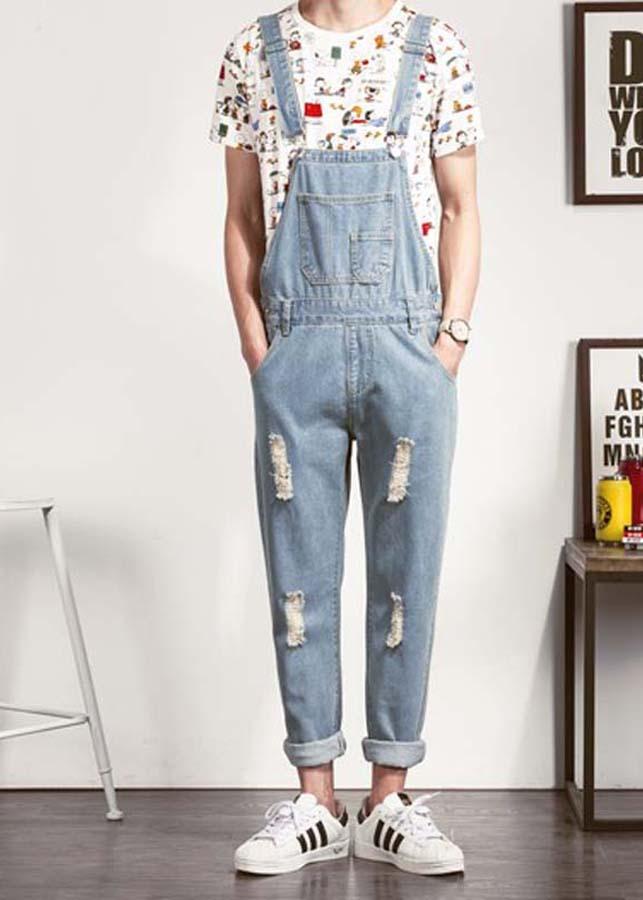 Quần yếm jeans rách trẻ trung Mã: ND1301