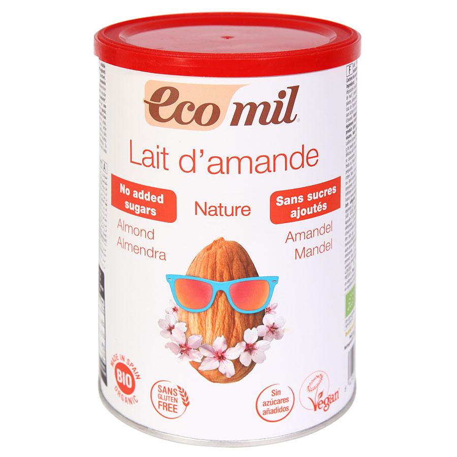Sữa bột hạnh nhân Almond hữu cơ không đường Ecomil 400g