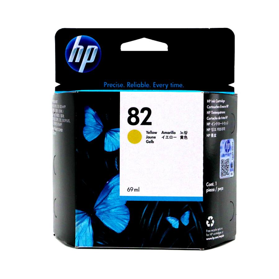 HP C4913A Original 82 Yellow Ink Cartridge for -HP DesignJet 500/510/800