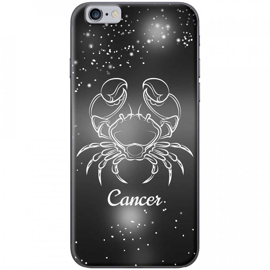 Ốp lưng  dành cho iPhone 6 Plus, iPhone 6s Plus mẫu Cung hoàng đạo Cancer (đen)