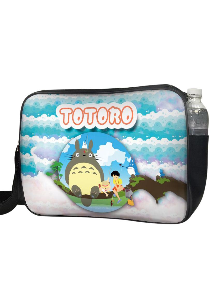 Túi Đeo Chéo Hộp Unisex In Hình Totoro Ngồi Trong Bong Bóng - TCMA229