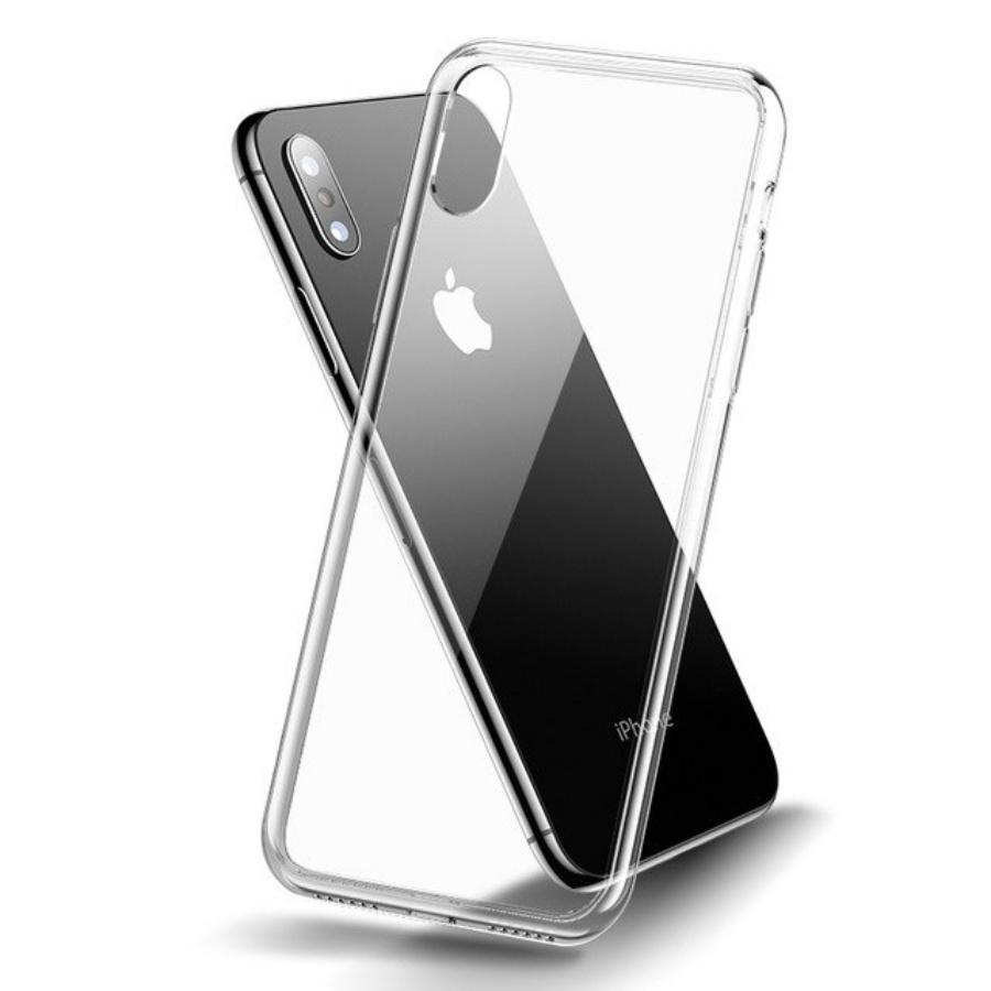 Ốp lưng Cafele trong suốt toàn bộ, lưng kính cường lực không ố vàng, viền máy dẻo cho iPhone XS Max 6.5