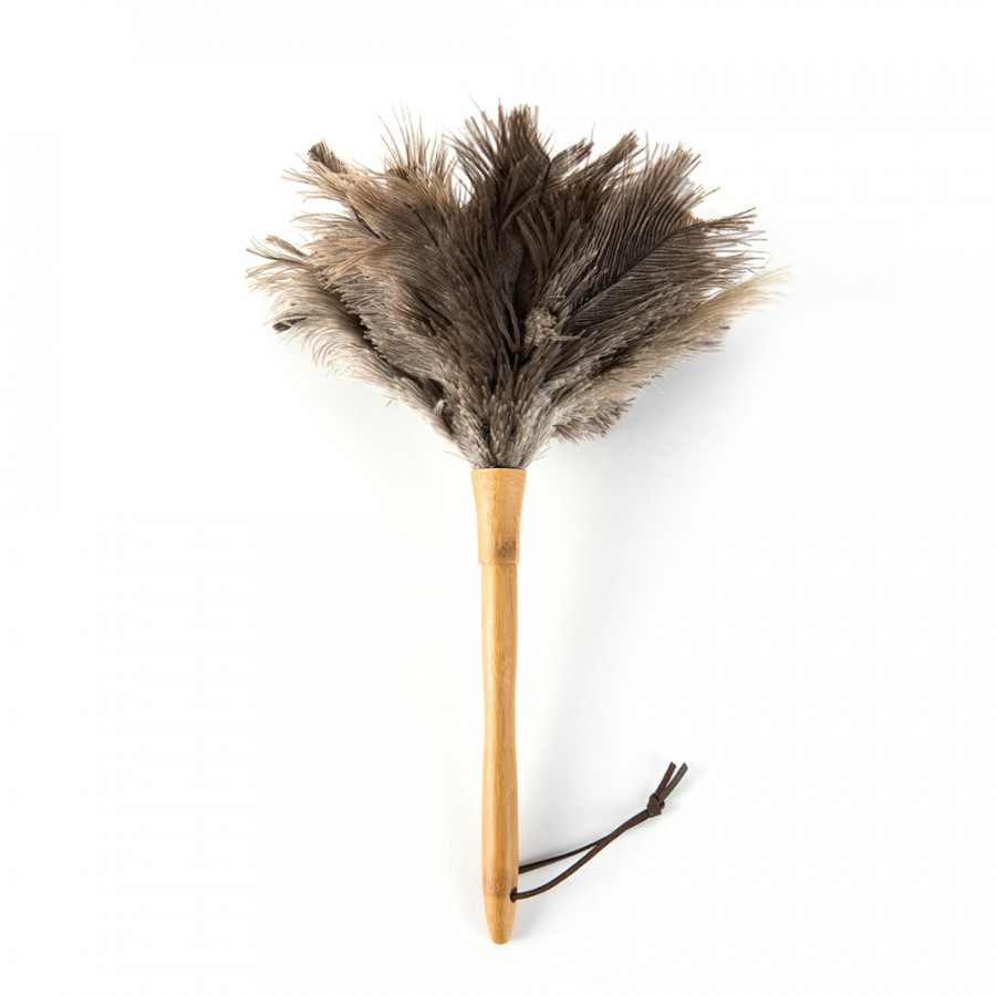 Xiaomi Jiezhi Ostrich Natural Feather Duster Brush Wood Handle Anti-Static Cleaning Tool Household Furniturer Car Dust