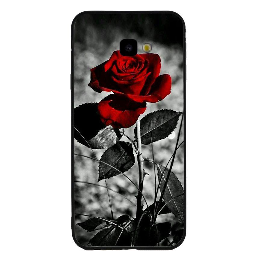 Ốp lưng viền TPU cho điện thoại Samsung Galaxy J4 Plus -Rose 08