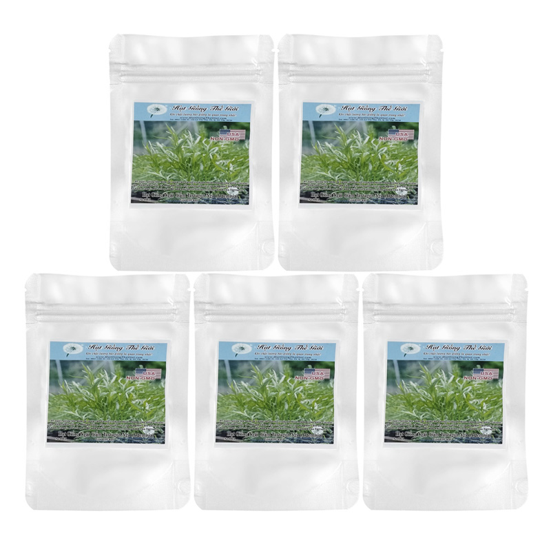 Bộ 5 Túi 100 Hạt Giống Ngải Giấm Tarragon Nga (Artemisia Dracunculoides.)