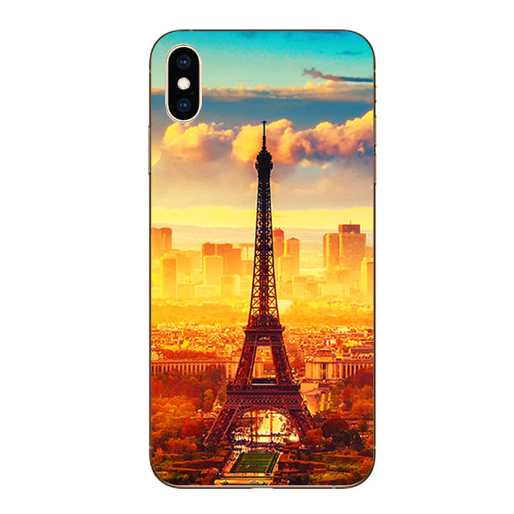 Ốp lưng dẻo cho Iphone XS Max - Paris 01