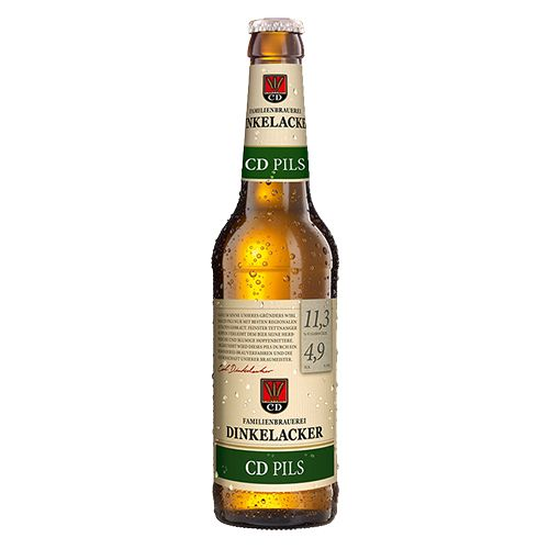 Chai bia Dinkelacker CD Pils 4.9%  (330ml)