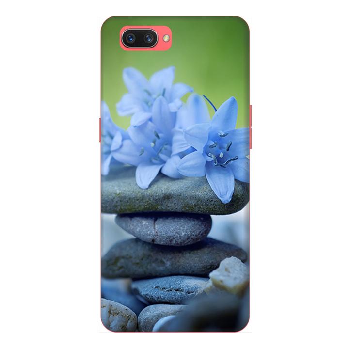 Ốp lưng cho điện thoại Realme C1 hình Đá và Hoa