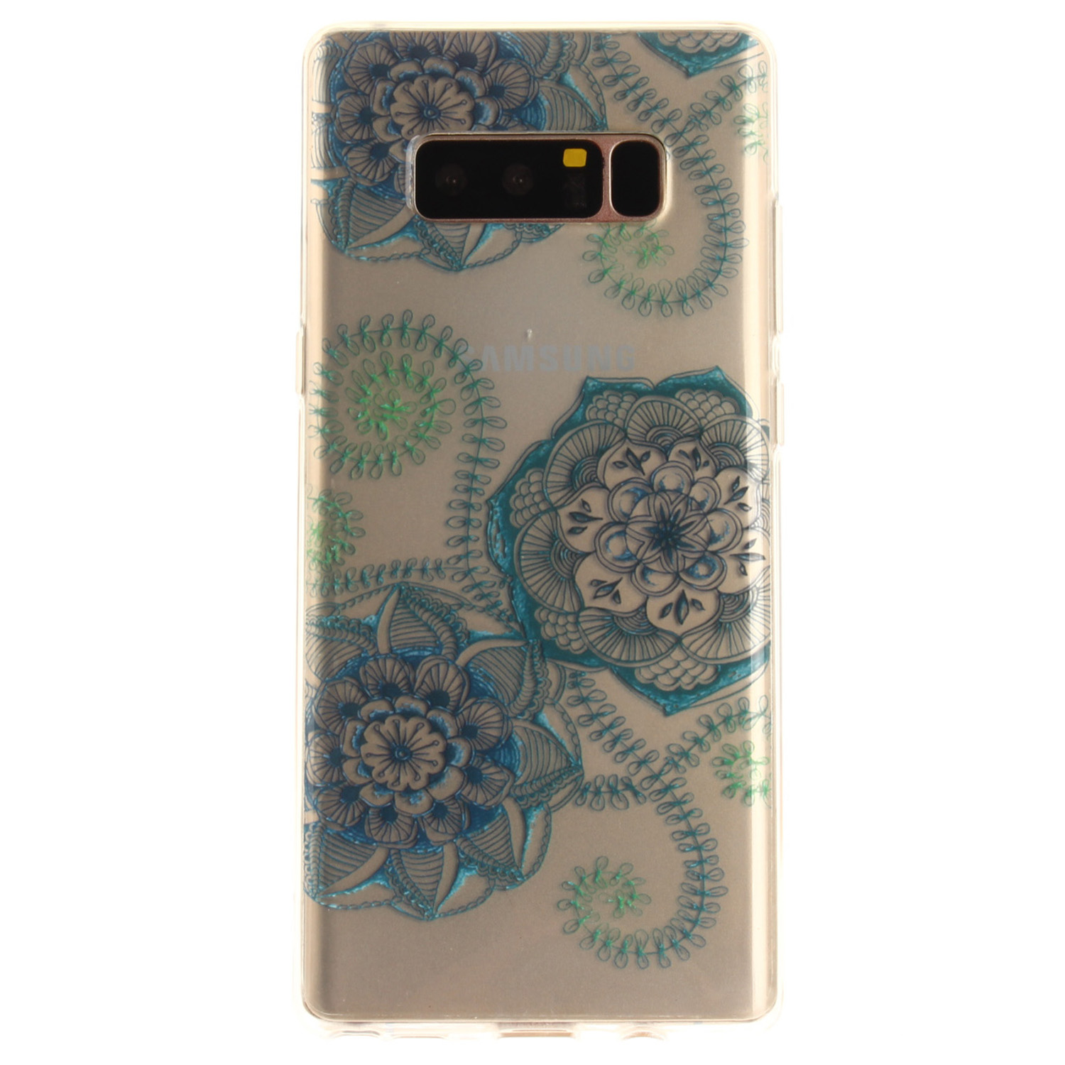 Samsung Galaxy Note 8 Case Pattern Printed Clear Soft Protective Cover for Samsung Note 8