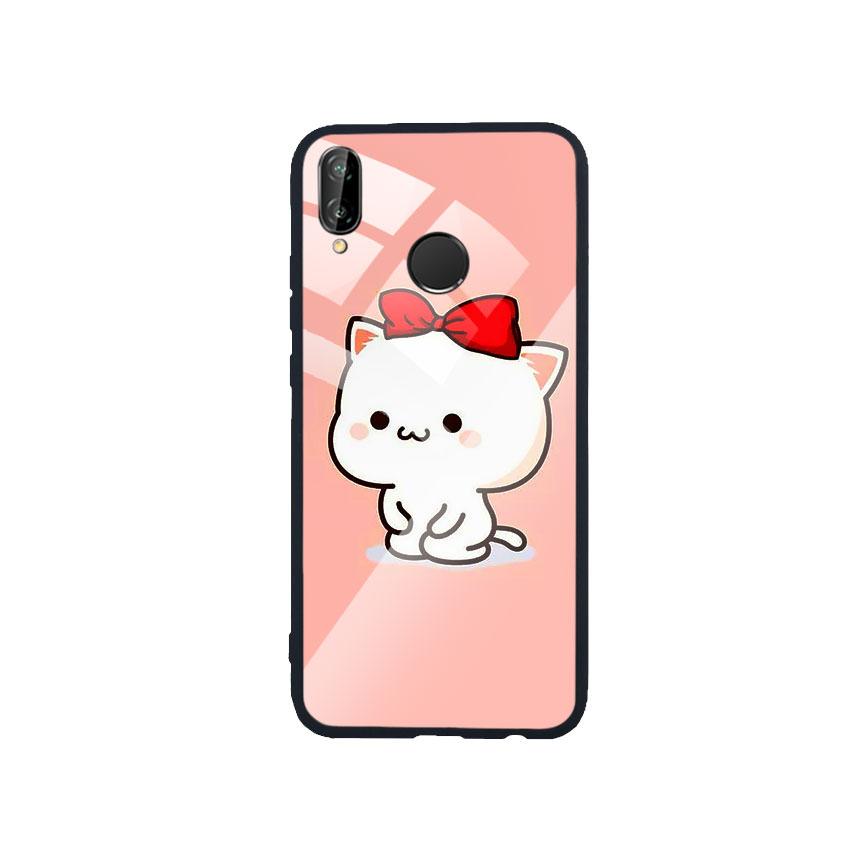 Ốp Lưng Kính Cường Lực cho điện thoại Huawei Nova 3e - Cute