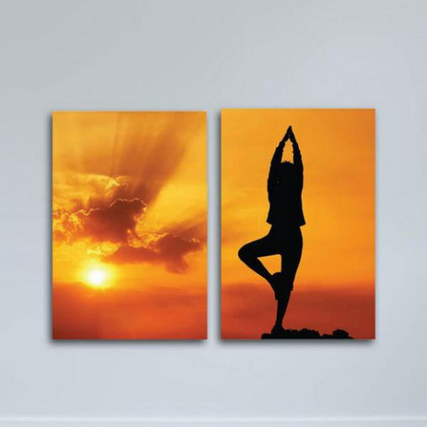 Tranh Canvas Có Viền Trang Trí Phòng Yoga W1137