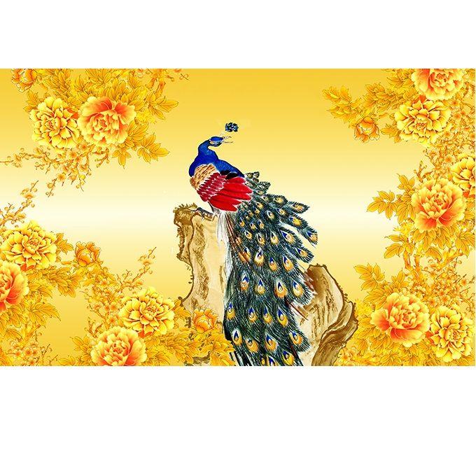 Tranh dán tường 3D vải lụa cao cấp hình chim công Khổng Tước và hoa - KT - 2151553 , 5425726423226 , 62_13740333 , 600000 , Tranh-dan-tuong-3D-vai-lua-cao-cap-hinh-chim-cong-Khong-Tuoc-va-hoa-KT-62_13740333 , tiki.vn , Tranh dán tường 3D vải lụa cao cấp hình chim công Khổng Tước và hoa - KT