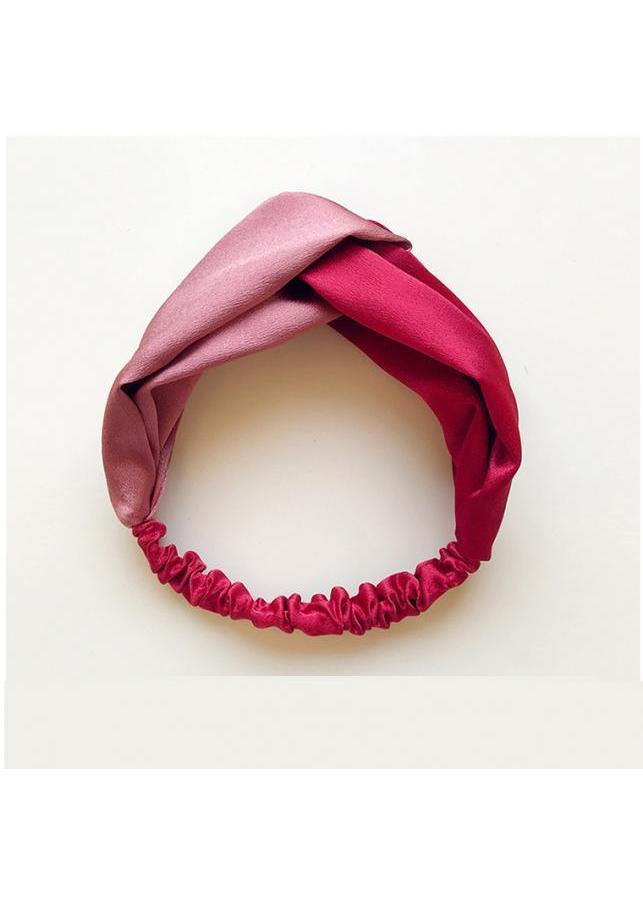 Băng đô turban nữ bản to mầu đẹp TB01A phối đỏ-hồng