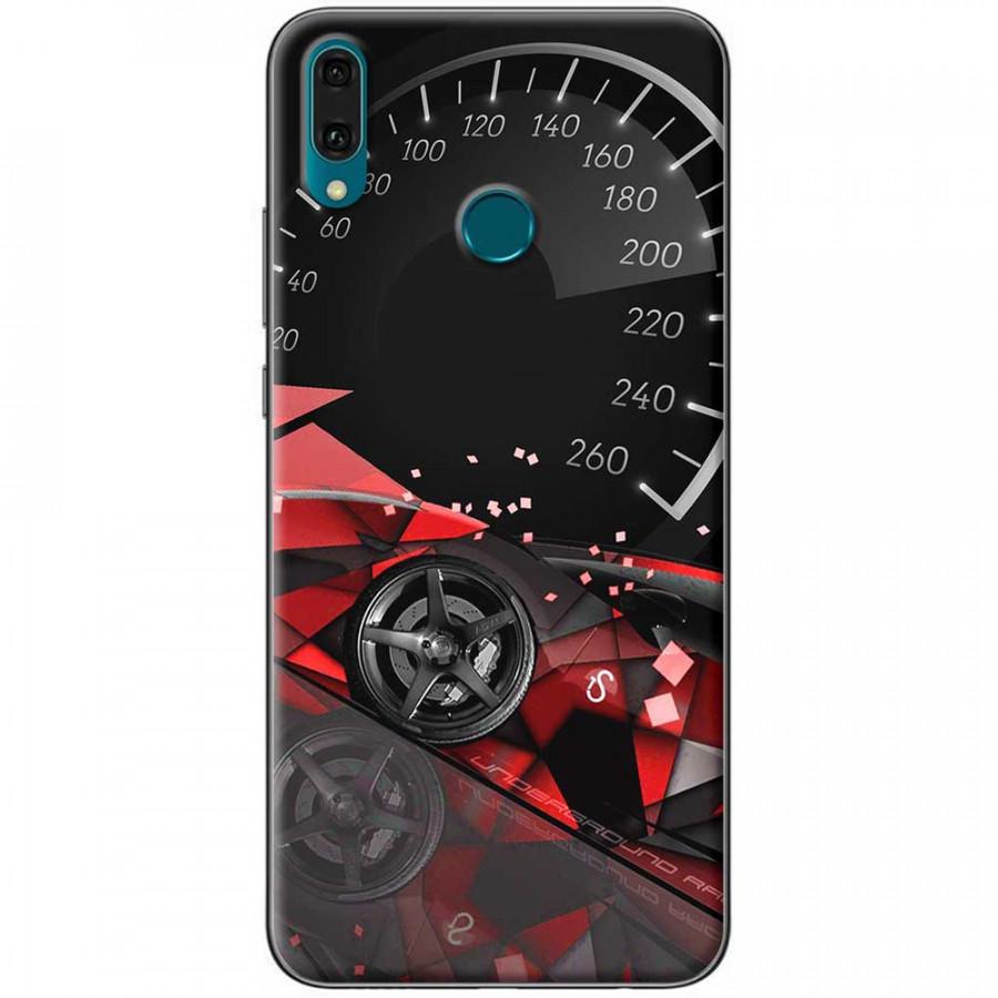 Ốp lưng dành cho Huawei Y9 2019 mẫu Đồng hồ tốc độ đỏ
